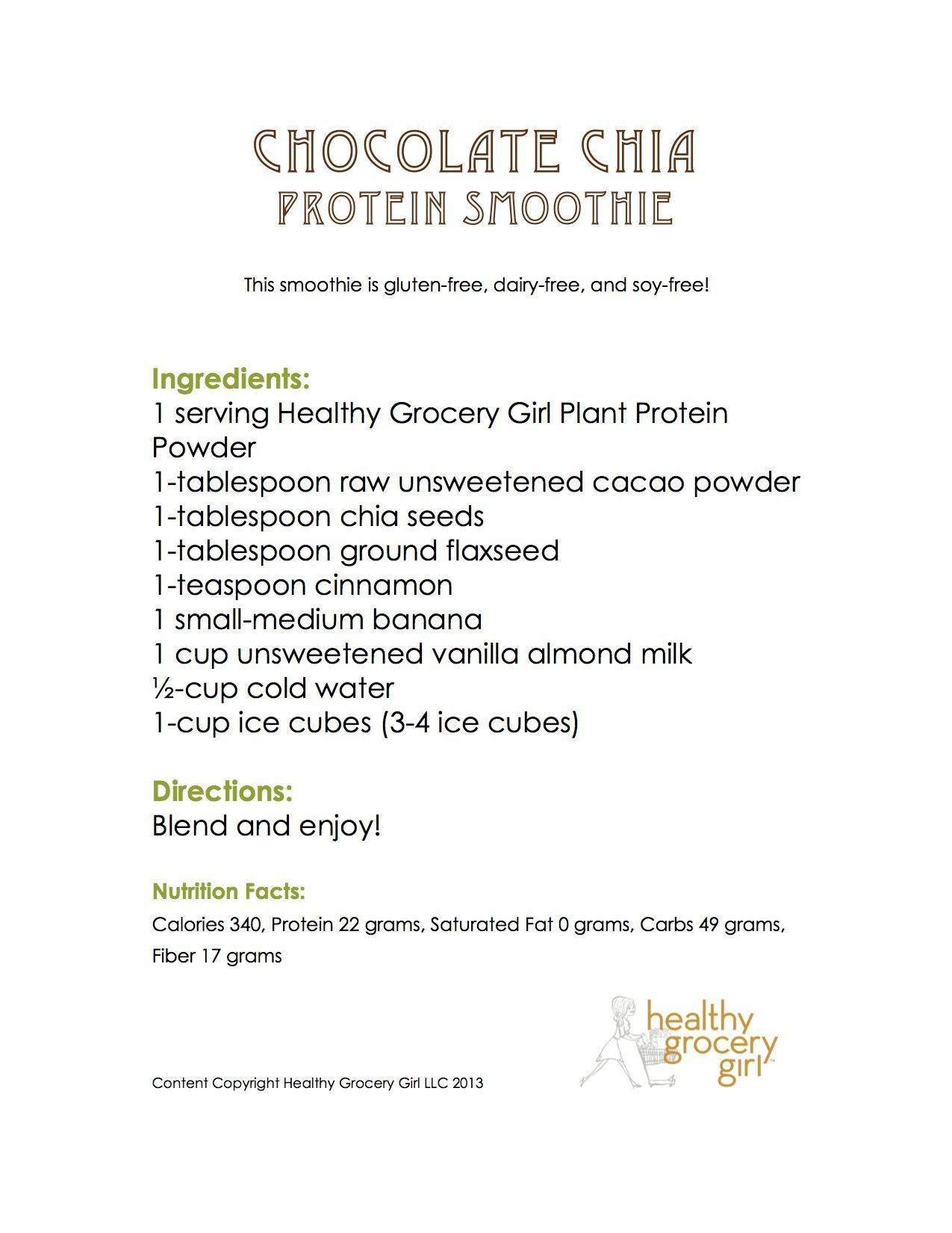 Chocolate Chia Protein Smoothie JPEG