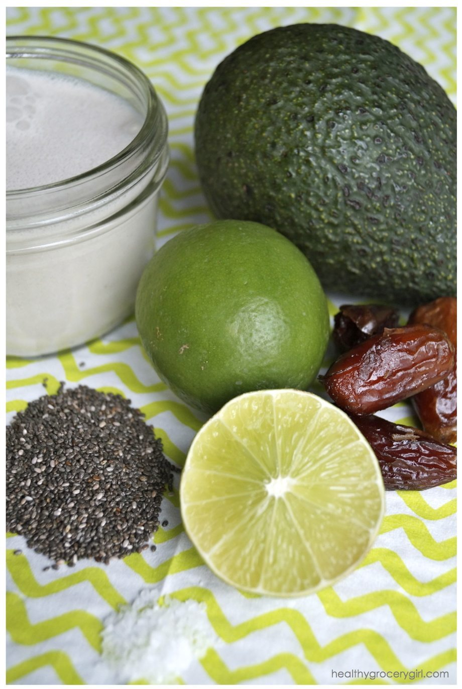Avocado Hemp Date Shake Smoothie Ingredients copy