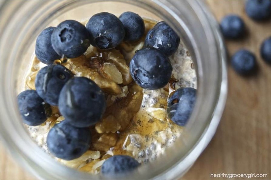 healthy grocery girl overnight oats