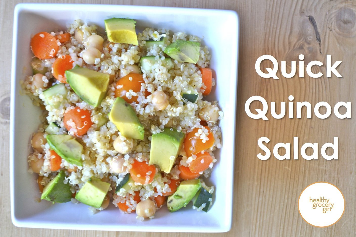 Healthy Grocery Girl | Quick Quinoa Salad
