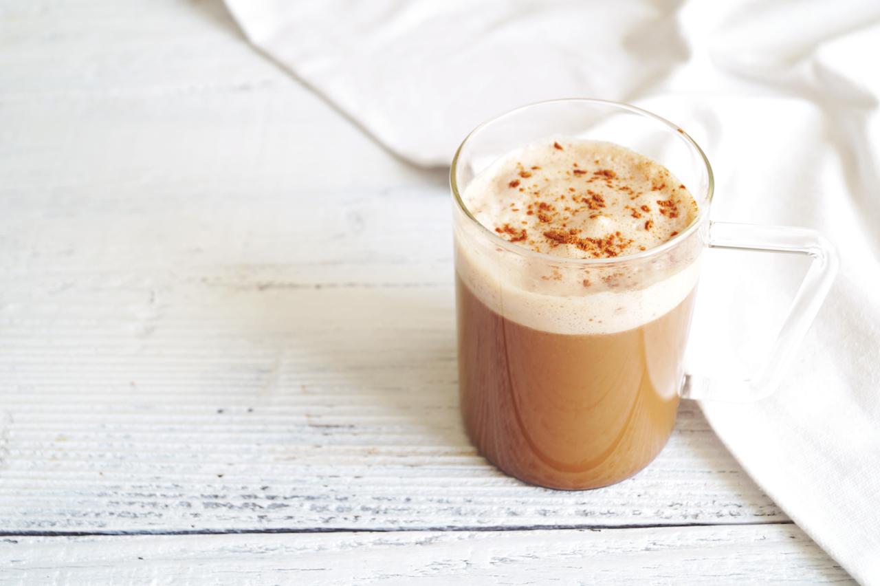 Easy Homemade Pumpkin Spice Latte | HealthyGroceryGirl.com