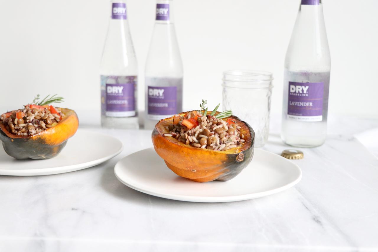 Wild Rice Stuffed Acorn Squash | HealthyGroceryGirl.com