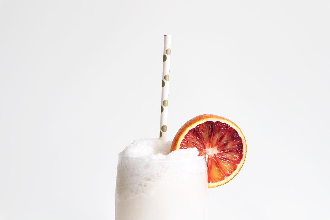 Blood Orange + Coconut Ice-Cream Floats with DRY Sparkling Soda | HealthyGroceryGirl.com