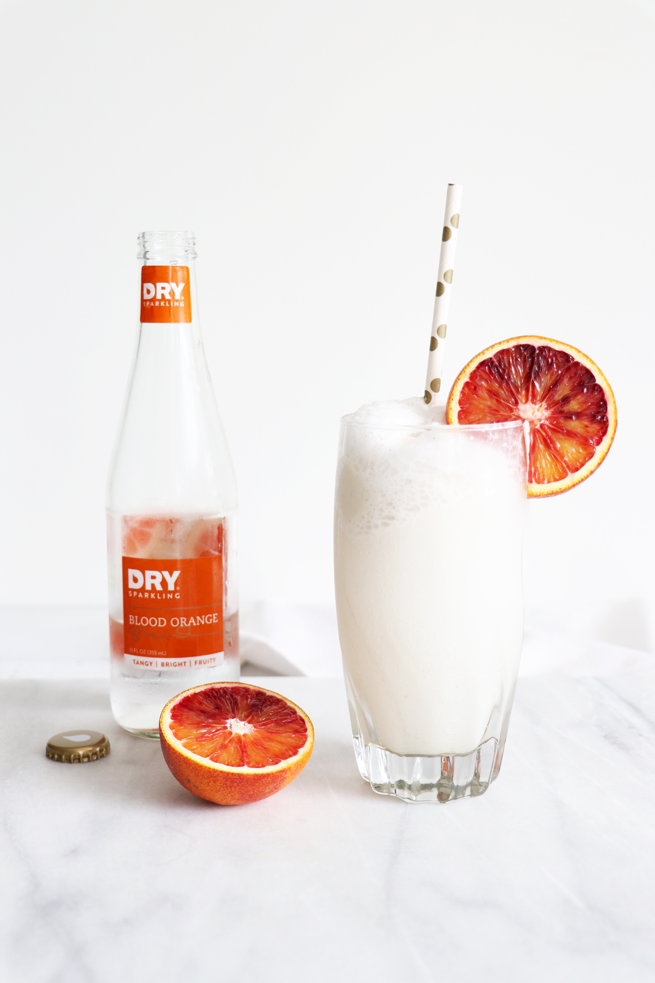 Blood Orange + Coconut Ice-Cream Floats with DRY Sparkling Soda | HealthyGroceryGirl.com