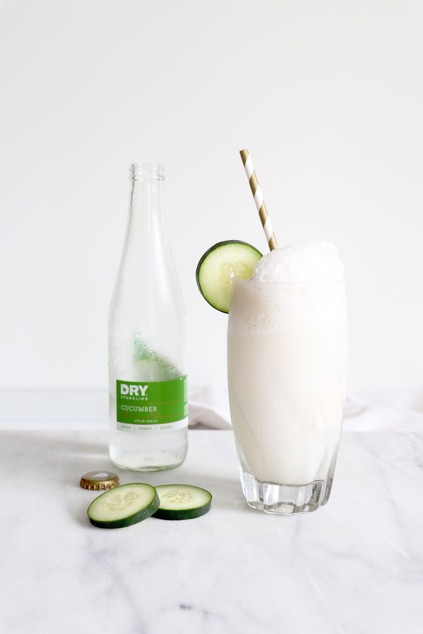 Coconut Ice-Cream Floats with DRY Sparkling Soda | HealthyGroceryGirl.com