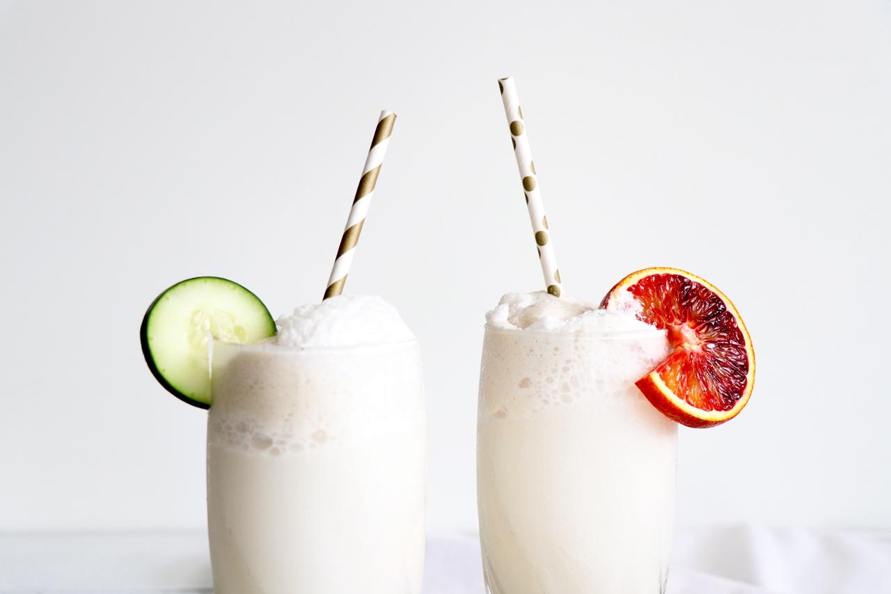Coconut Ice-Cream Floats | HealthyGroceryGirl.com