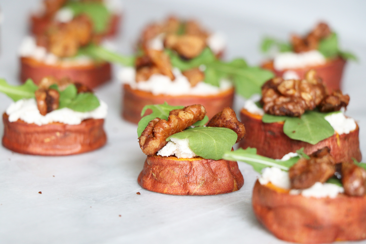 Quick & Healthy Sweet Potato Appetizer from HealthyGroceryGirl.com