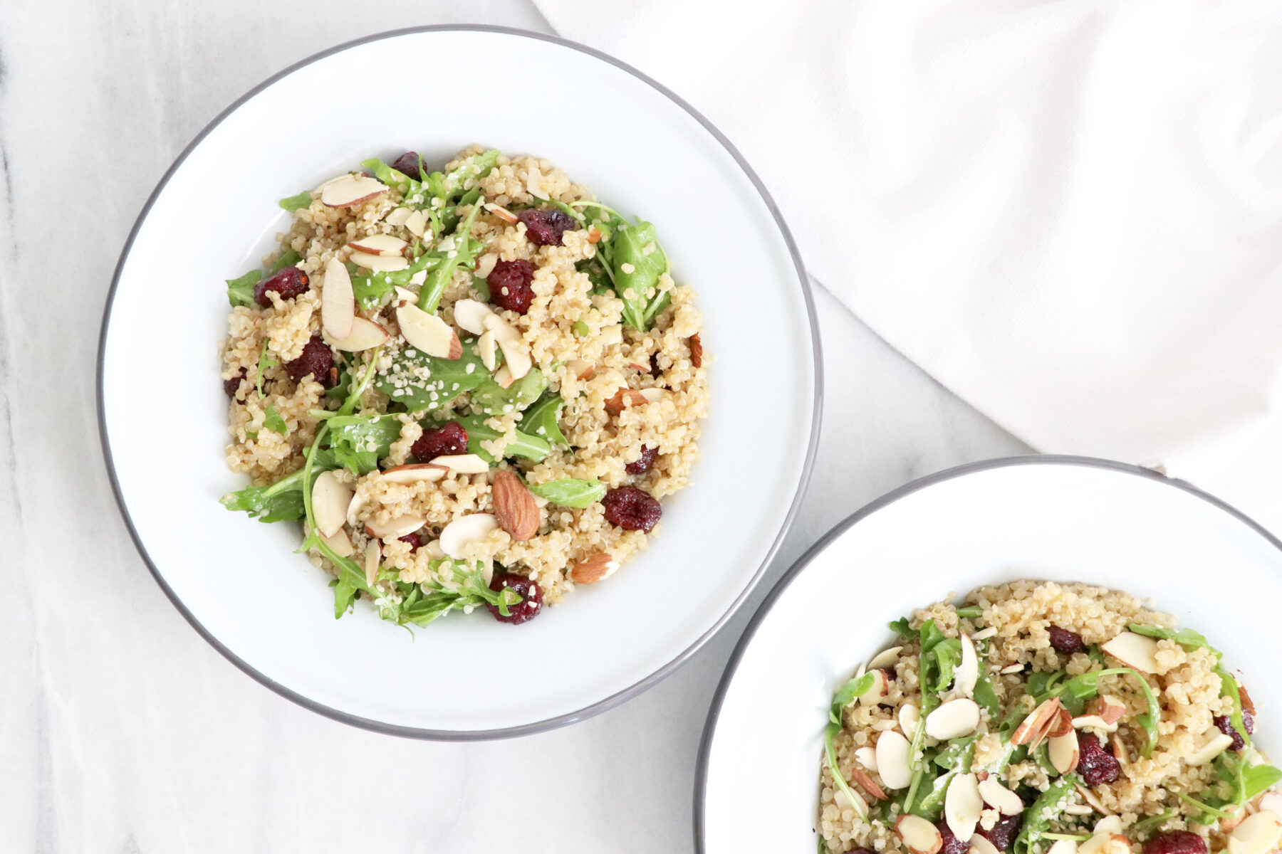Cranberry Quinoa Salad | Quick + Healthy Recipe | HealthyGroceryGirl.com
