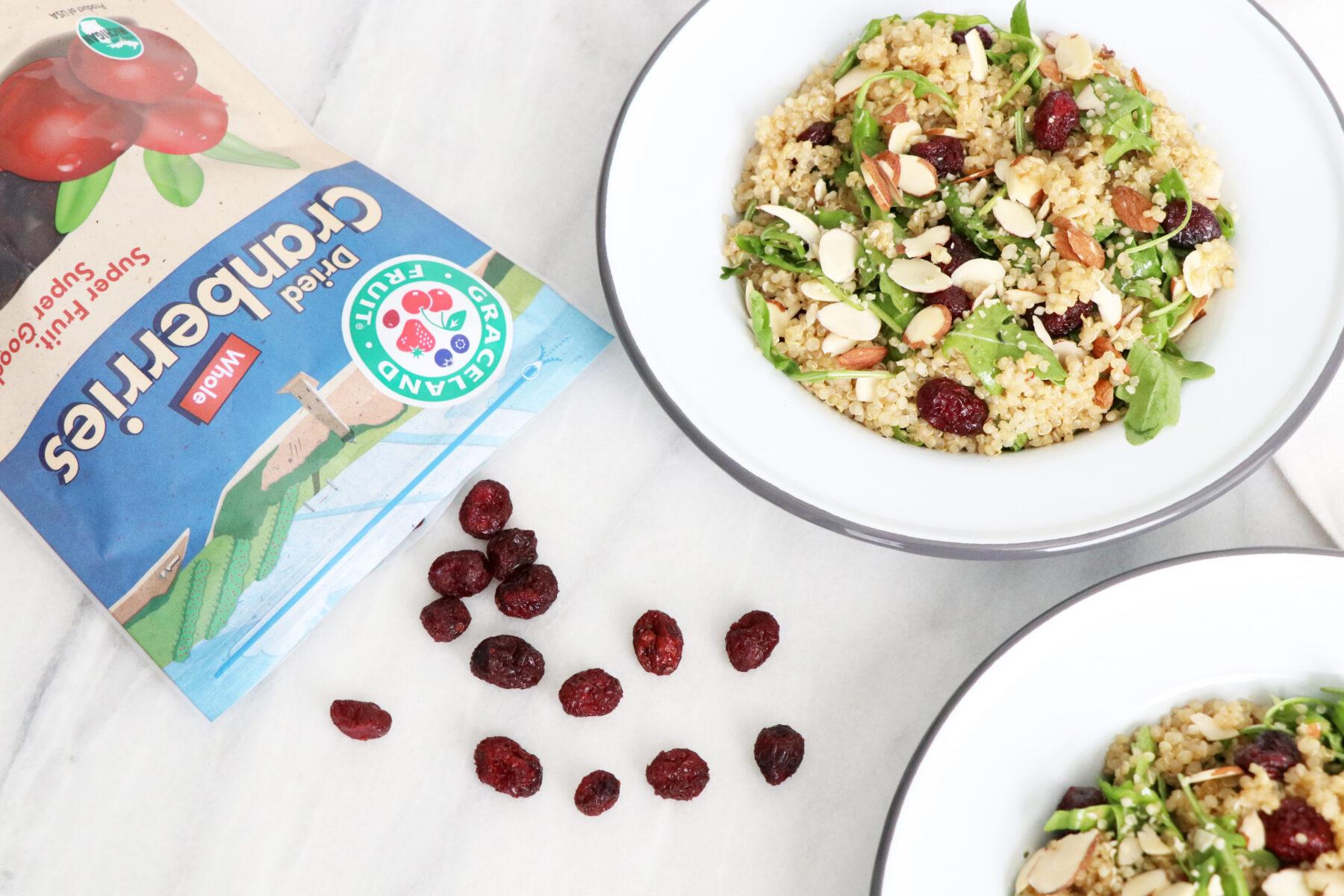 Cranberry Quinoa Salad   Quick + Healthy Recipe   HealthyGroceryGirl.com
