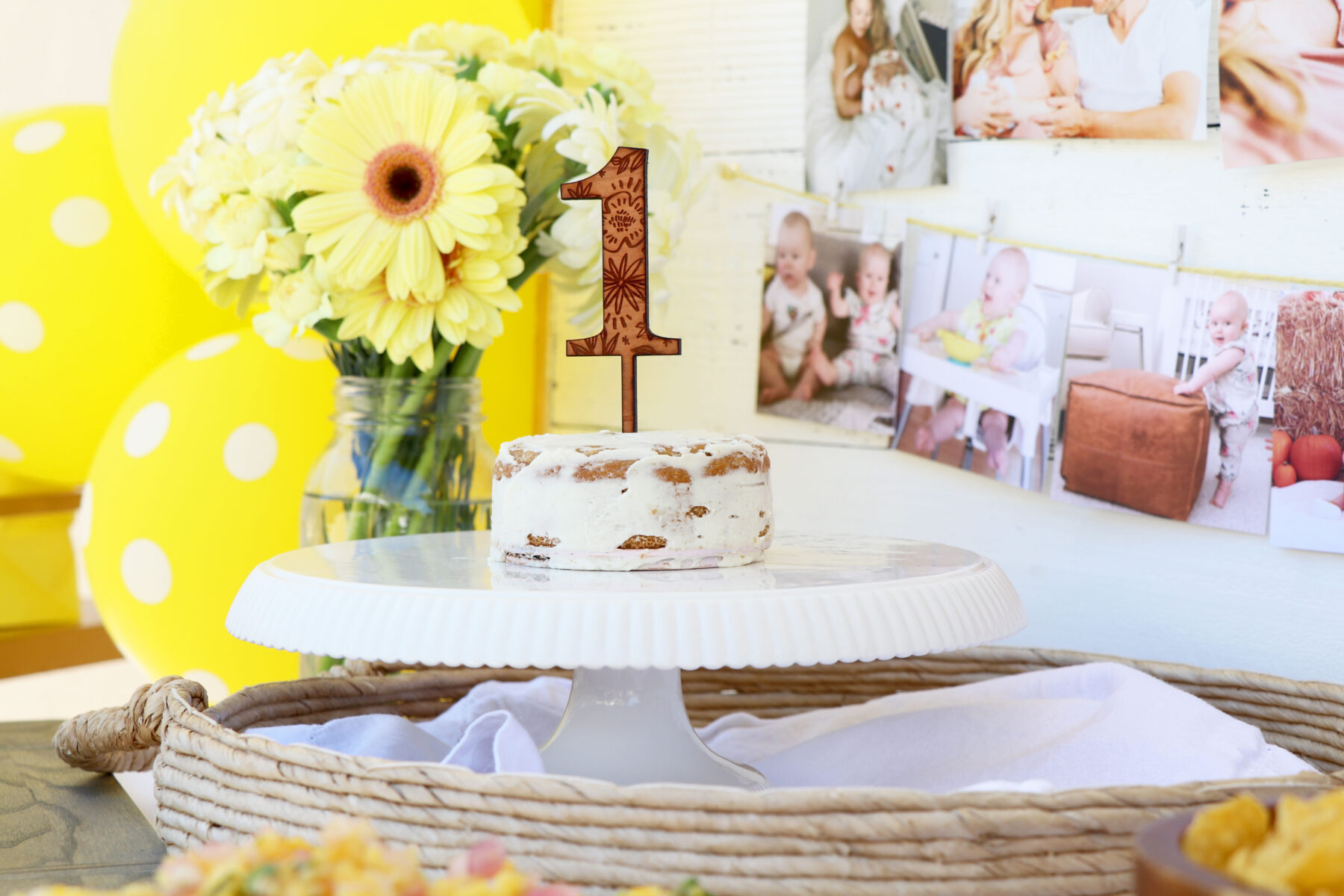 Astounding Gluten Free Smash Cake And Ellas First Birthday Party Healthy Funny Birthday Cards Online Overcheapnameinfo