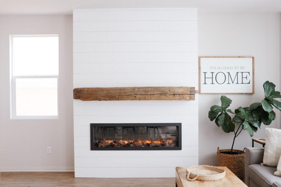 Custom fireplace DIY build