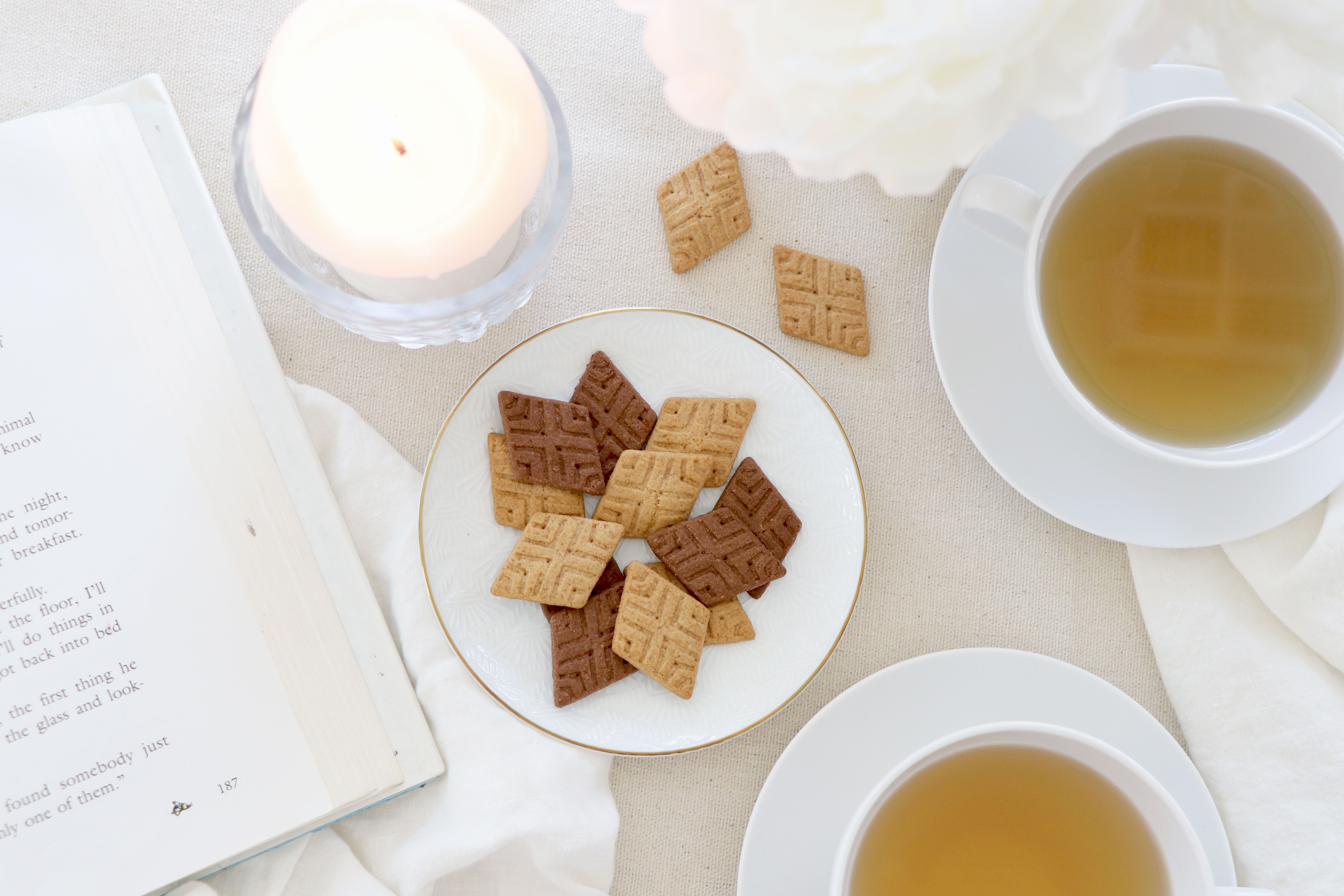 Gluten-Free Crackers and Ginger Tea