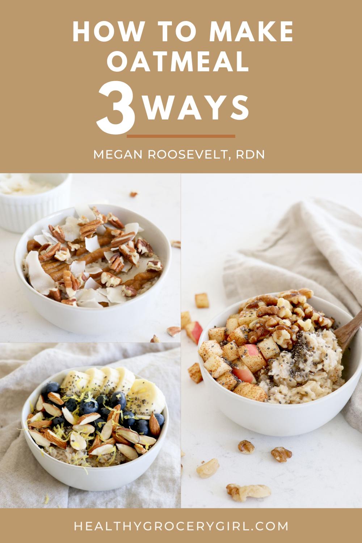 three healthy oatmeal recipes